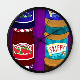 Sugar Crash No. 6: PB+J Wall Clock