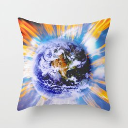 Earth in Sudden Geomagnetic Reversal Throw Pillow