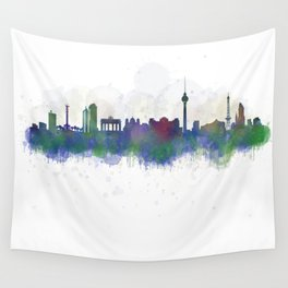 Berlin City Skyline HQ3 Wall Tapestry