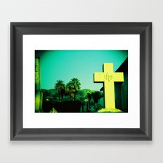 San Jose Mission Cemetary Framed Art Print