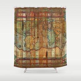 Antique World Shower Curtain