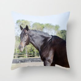 Beautiful in Blac Throw Pillow