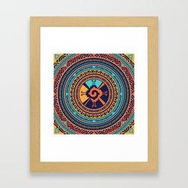 Colorful Hunab Ku Mayan symbol Framed Art Print