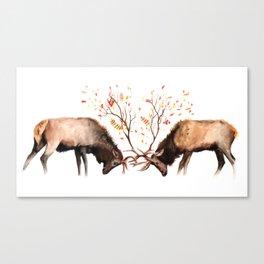 Botanical Deer Canvas Print