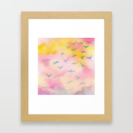 Sunset Birds Framed Art Print