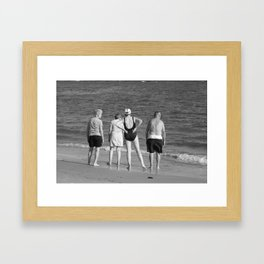 Friends At The Beach Framed Art Print