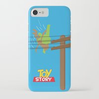 toy story iPhone & iPod Cases featuring Toy Story - Falling With Style by Gary Wood
