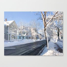 New England Snow Day Canvas Print