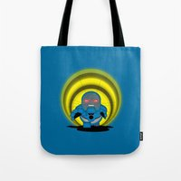 returns Tote Bags featuring Chubbyseid Returns  by 1982 est. by A.W. Owens