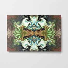 Butterfly art in abstract Metal Print