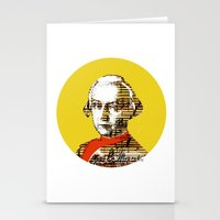 mozart Stationery Cards featuring Mozart Kugel Yellow by Marko Köppe