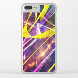 Spacetime Clear iPhone Case