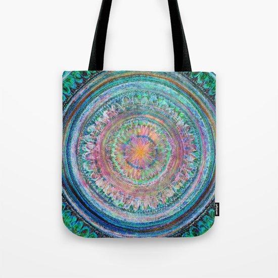 Pink and Turquoise Mandala Tote Bag