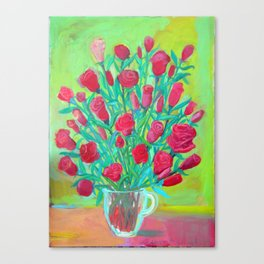 Rosas rojas 2 by Diego Manuel Canvas Print