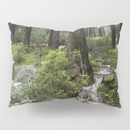 Mountains, forest, water. Pillow Sham