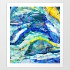 Geometric Wave Art Print