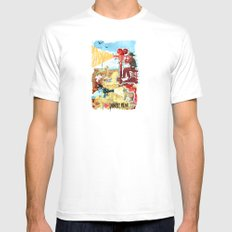 I HEART DESERT FILM MEDIUM White Mens Fitted Tee