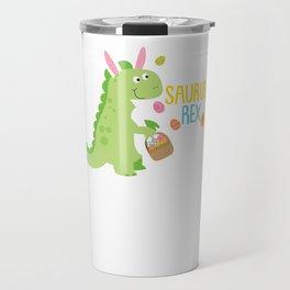 Easter Saurus Rex Easter Bunny Dinosaur Travel Mug