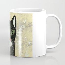 Black cat stare Coffee Mug