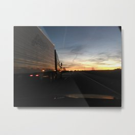 Big One Passing Metal Print