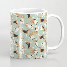 beagle scatter mint Coffee Mug