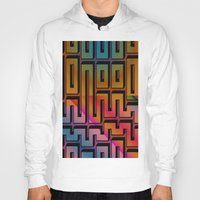 labyrinth Hoodies featuring Labyrinth by Fine2art