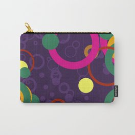 Abstract Pink and Purple Circle Pattern - Colorful Art Carry-All Pouch