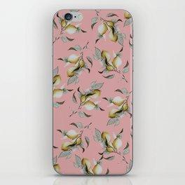 Lemons in Blush iPhone Skin