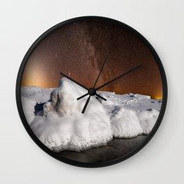 Zodiacal Light over Lake Michigan Ice Wall Clock