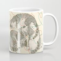 cats Mugs featuring cats by Laura Graves