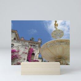 Castle fountain Mini Art Print