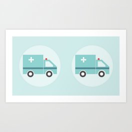 Ambulancia Art Print