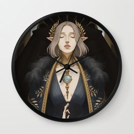 The lovers at the crossroads Wall Clock