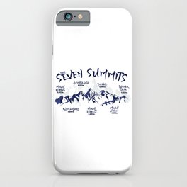 Seven Summits Mountain   iPhone Case