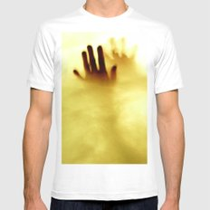Hot Water MEDIUM White Mens Fitted Tee