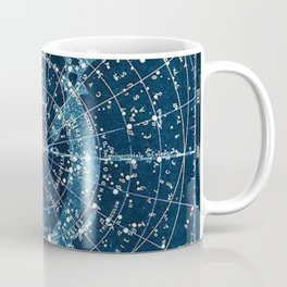 1900 Star Constellation Map - Chart Vintage Poster Coffee Mug
