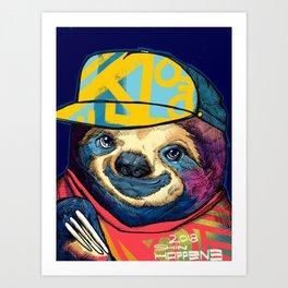 Sly the Sloth Art Print
