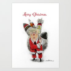 Trump is not Father Christmas Art Print
