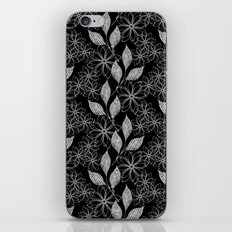 Abstract floral black and white pattern. iPhone & iPod Skin