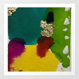 Abstract with Gold Leaf Art Print