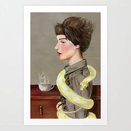 My Morning Coffee Art Print