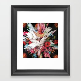 Floral Glitch II Framed Art Print