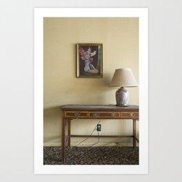 Hotel Lamp Art Print