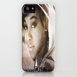 """""""There is a thin line between Genius and Insanity"""" iPhone Case"""