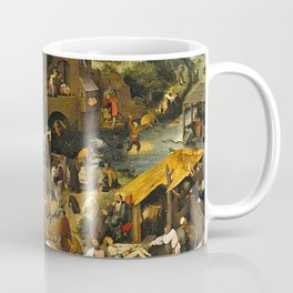 Pieter Bruegel the Elder Netherlandish Proverbs Painting Coffee Mug