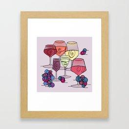 Wine and Grapes v2 Framed Art Print