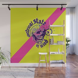 Electrical Skull Wall Mural