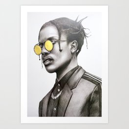 A$AP Rocky Art Print