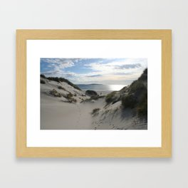 Sand dunes on Berneray. The Outer Hebrides, Scotland. Framed Art Print