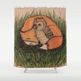 Fox & Owl Shower Curtain